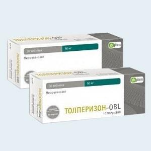 Толперизон: инструкция по применению (таблетки и ампулы)