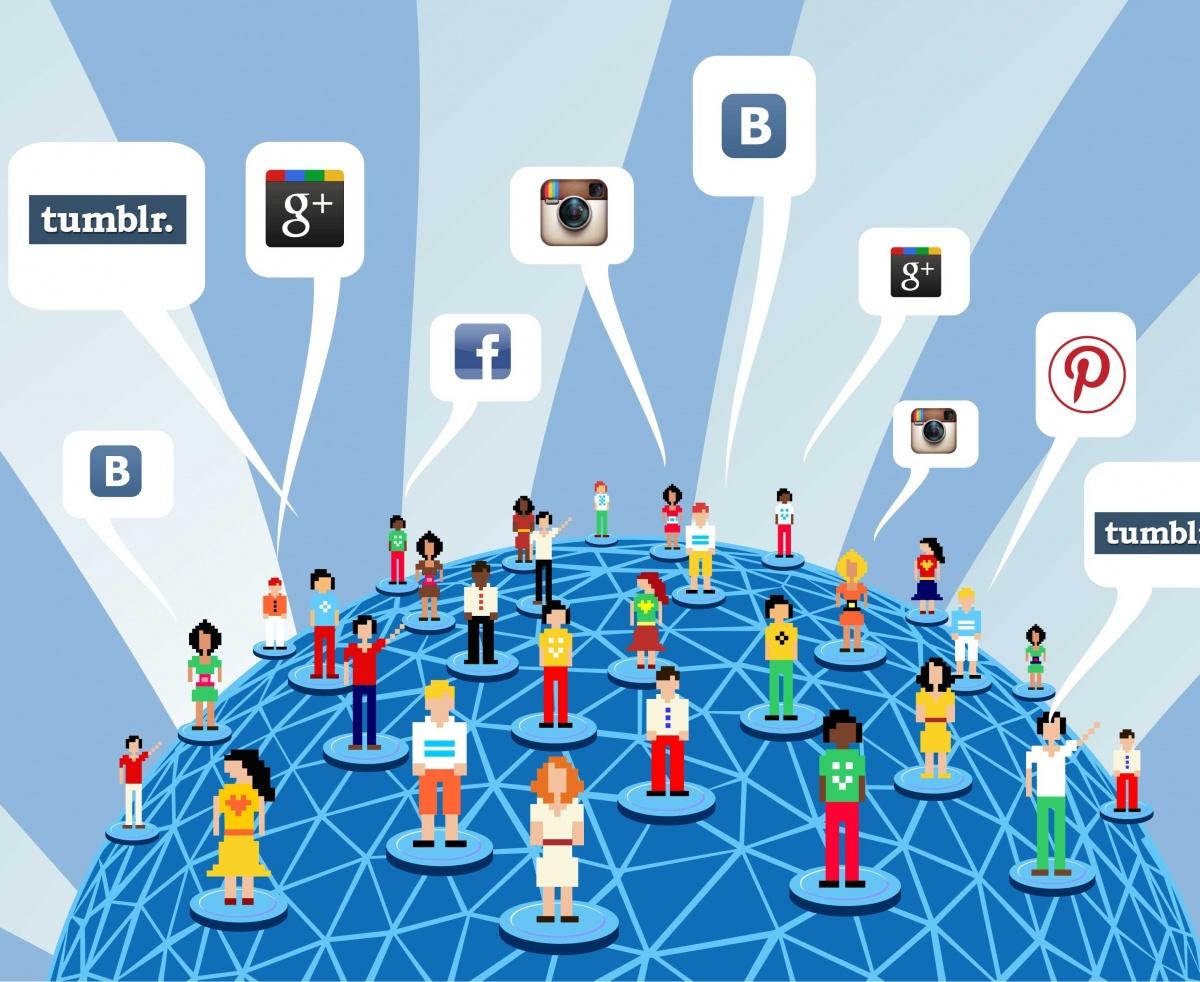 Общение людей в социальных сетях и в реальной жизни