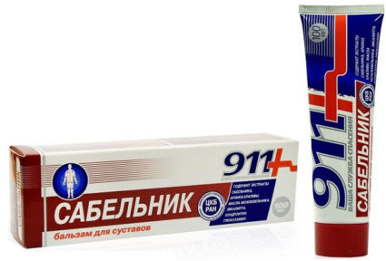 Бальзам для суставов сабельник 911: показания, инструкция по применению, отзывы | все о суставах и связках
