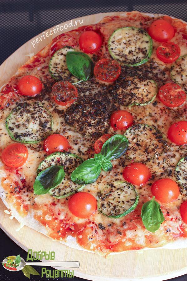 Пошаговый рецепт приготовления вегетарианской пиццы