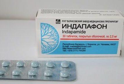 Инструкция по применению таблеток индап при высоком давлении
