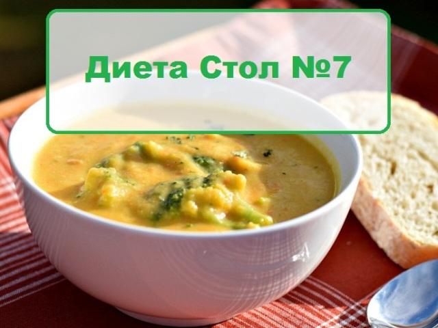 Рецепты блюд при диете 7а