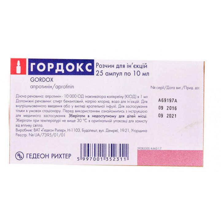 Апротинин — инструкция по применению