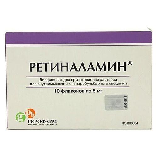 Способ применения и фармакологическое действие препарата ретиналамин