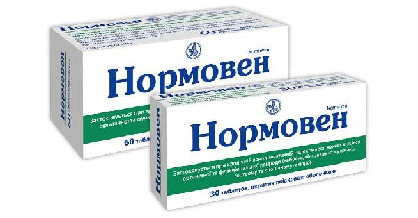 Препарат нормовен для лечения вен