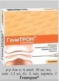 Препарат: генитрон в аптеках москвы