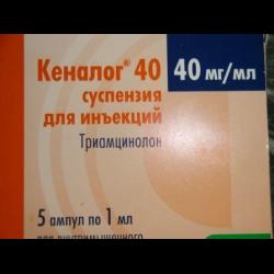 Инструкция по применению уколов кеналог