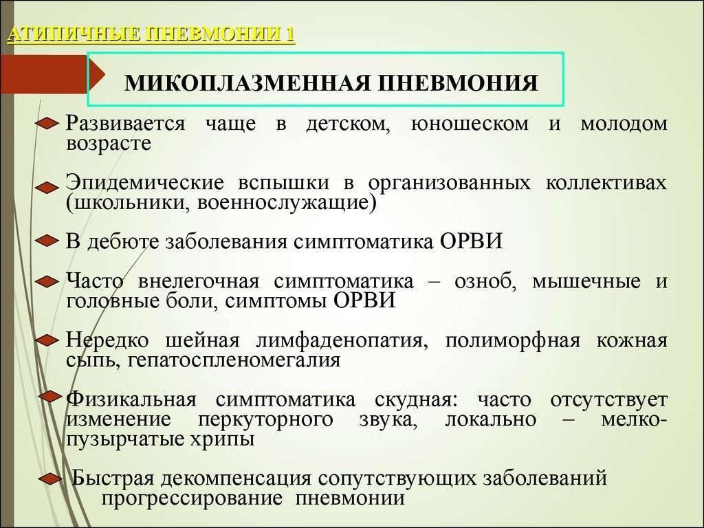 Разновидности атипичной пневмонии и способы лечения