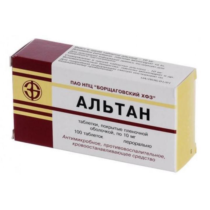 Таблетки альтан - инструкция, показания, применение