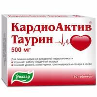 Препарат кардиоактив таурин: инструкция по применению