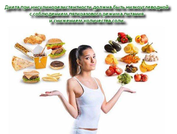 Диета при инсулинорезистентности меню на неделю. особенности питания при инсулинорезистентности, продукты под запретом