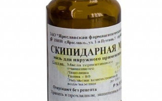 Скипидарная мазь: свойства препарата, показания