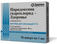 Пиридоксина гидрохлорид : инструкция по применению