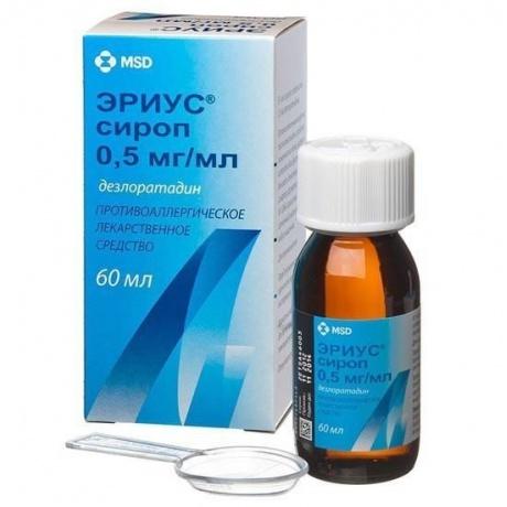 Эриус (сироп \ таблетки): инструкция по применению, аналоги и отзывы, цены в аптеках россии