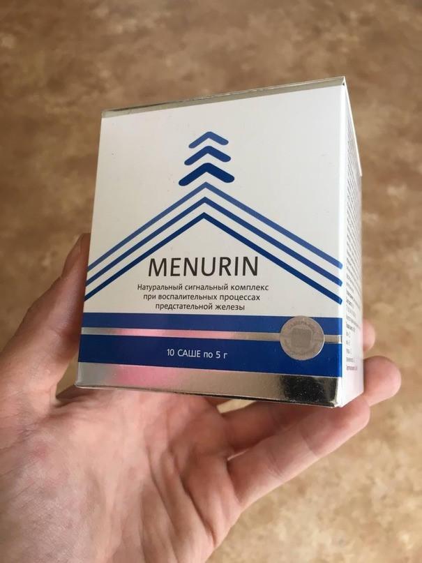 Менурин от простатита. отзывы реальных покупателей, инструкция по применению