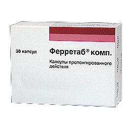 Ферретаб: инструкция по применению, аналоги и отзывы, цены в аптеках россии