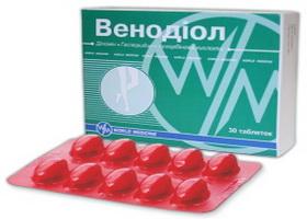 Инструкция по применению препарата венодиол, аналоги (таблетки)