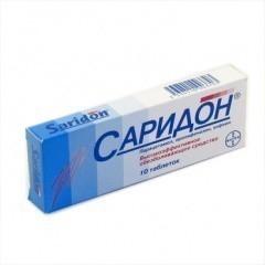 Инструкция по применению препарата саридон и его аналоги