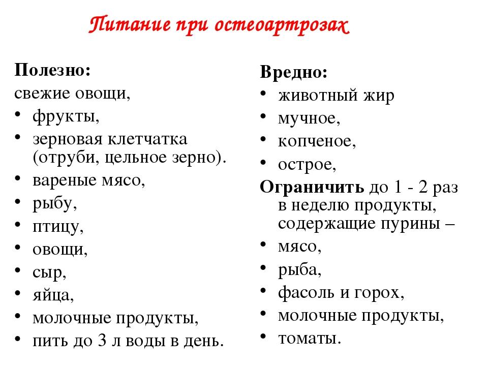 Диета Ревматоидного Артрита.