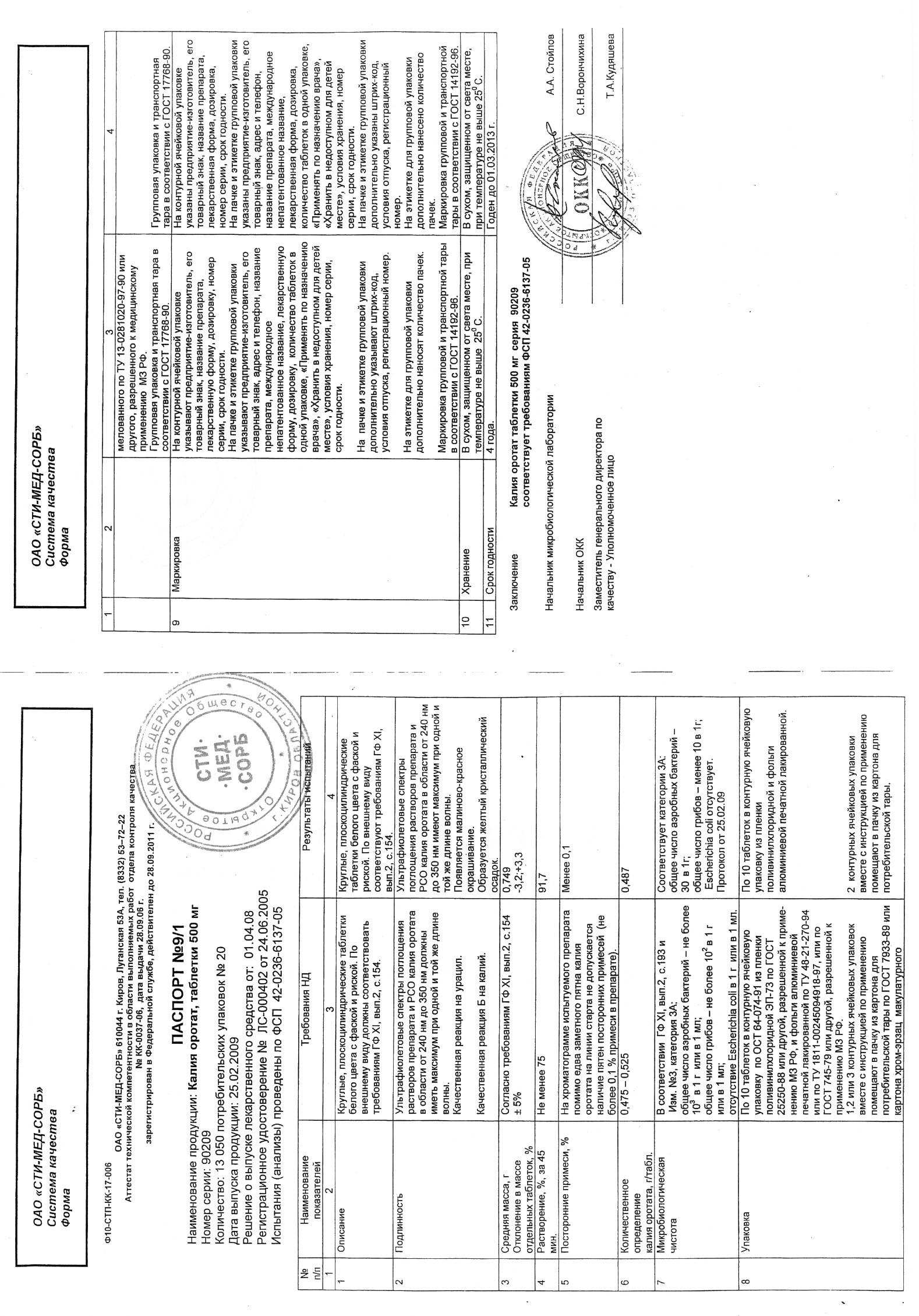 Калия оротат: инструкция по применению и для чего он нужен, цена, отзывы, аналоги