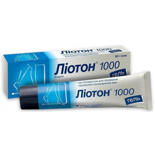 Гель лиотон - препарат для наружного применения