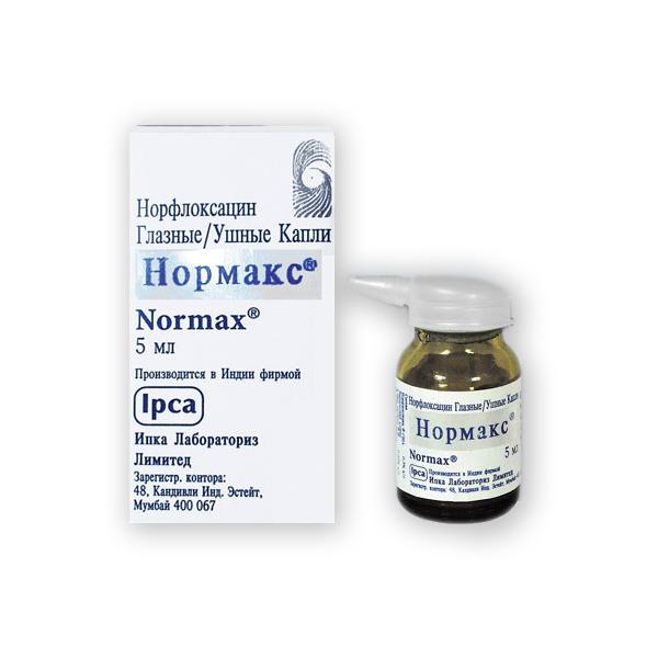Нормакс – капли для глаз