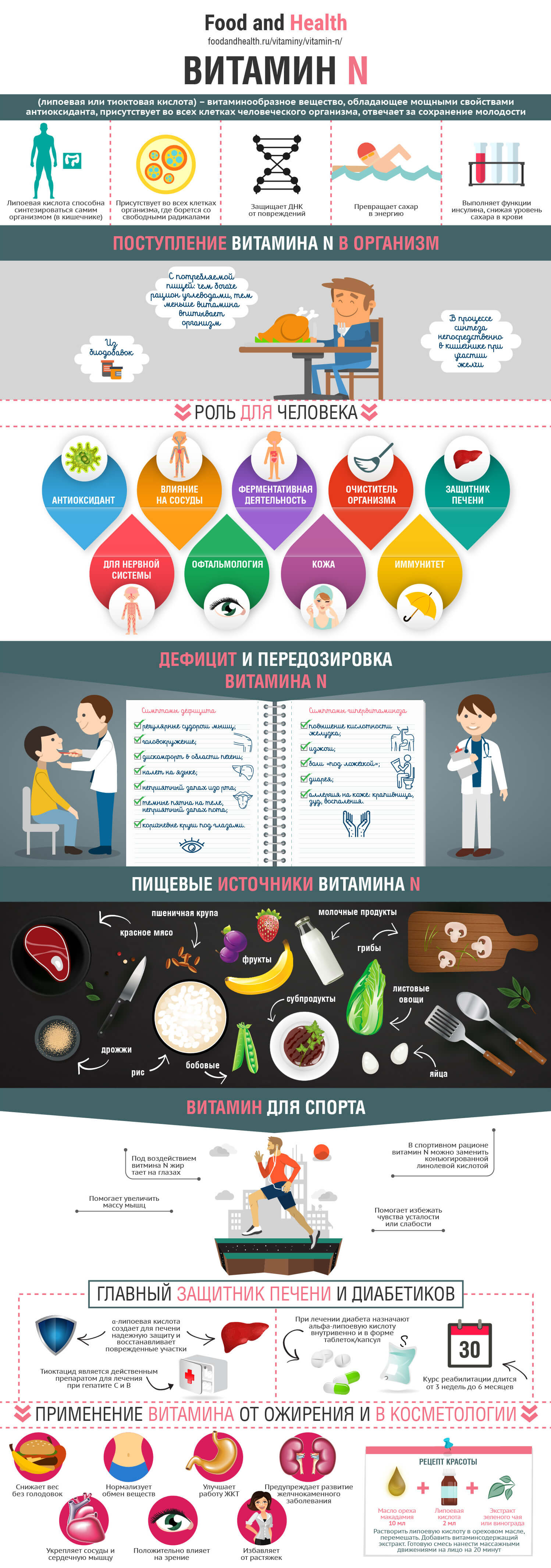 Продукты питания богатые витамином n