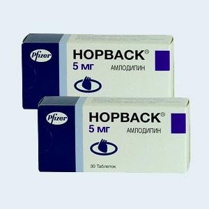Таблетки 5 мг и 10 мг норваск: инструкция по применению