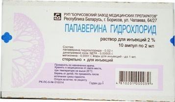 Уколы папаверин