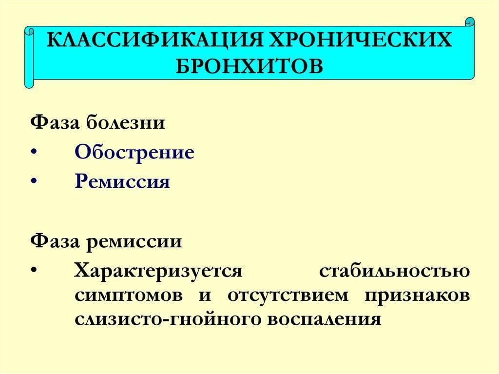 Катаральный эндобронхит 1-2-3 степени
