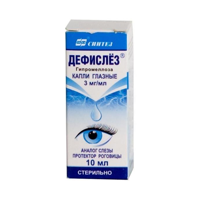 Глазные капли дефислез: инструкция по применению и отзывы