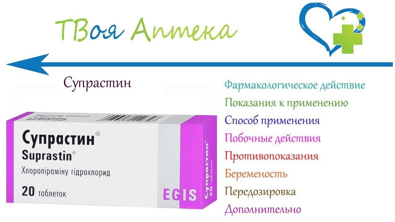 Применение супрастина в таблетках и уколах взрослыми и детьми