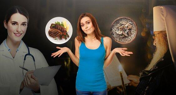 Правильное питание во время поста – залог хорошего самочувствия