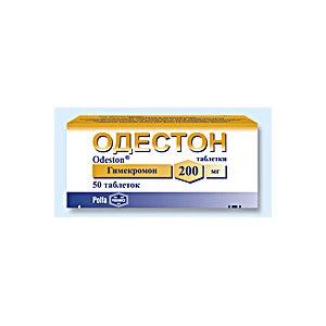 Таблетки 200 мг одестон: инструкция, цена и отзывы
