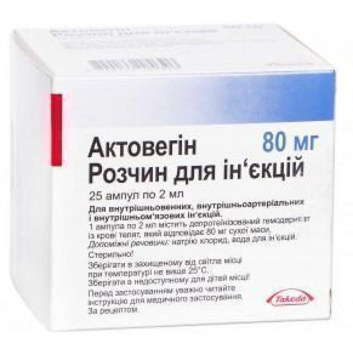 Актовегин (actovegin) — инструкция по применению и отзывы, цена, аналоги