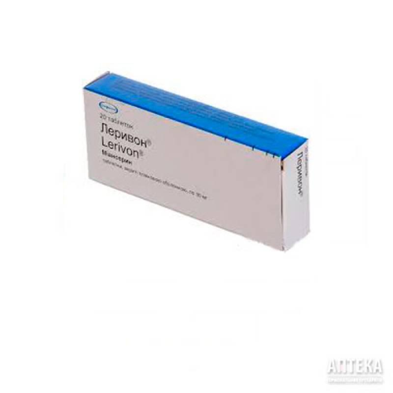Таблетки леривон инструкция по применению — состав — аналоги — отзывы пациентов | антидепрессант ру
