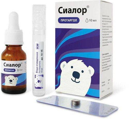 Инструкция по применению и состав препарата сиалор (протаргол) для взрослых и детей, аналоги