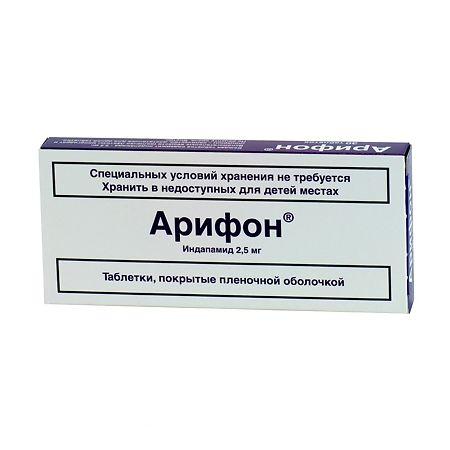 Инструкция по применению таблеток арифон ретард от давления и гипертонии