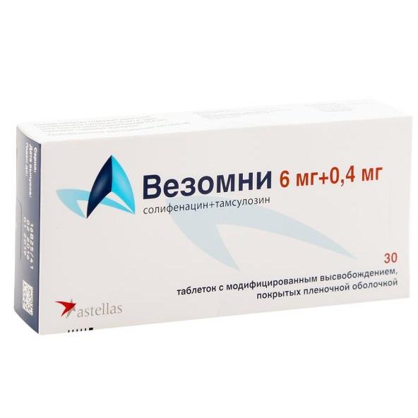 Таблетки  везомни инструкция по применению, солифенацин + тамсулозин