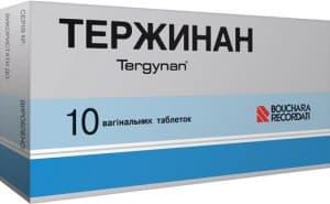 Таблетки, свечи тержинан: инструкция, цены и отзывы