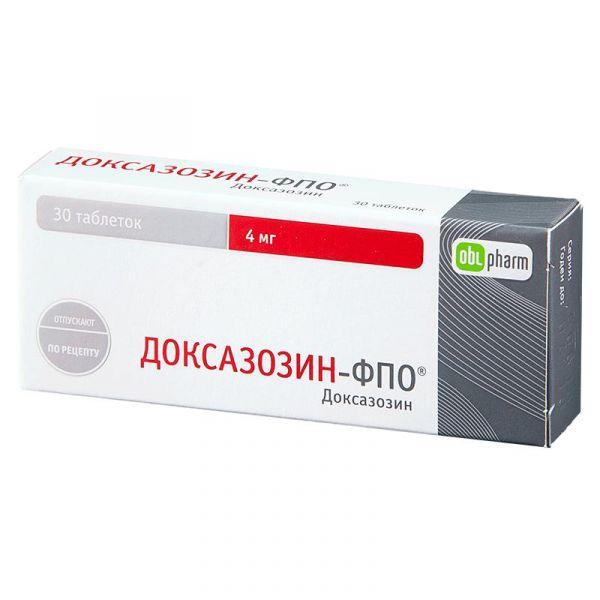 Доксазозин: таблетки 1 мг, 2 мг, 4 и 8 мг