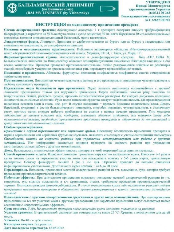 Мазь вишневского: аналоги, от чего помогает?