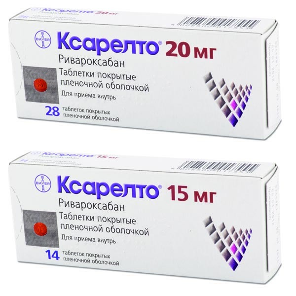 Таблетки 2,5 мг, 10 мг, 15 мг и 20 мг ксарелто: инструкция по применению и отзывы