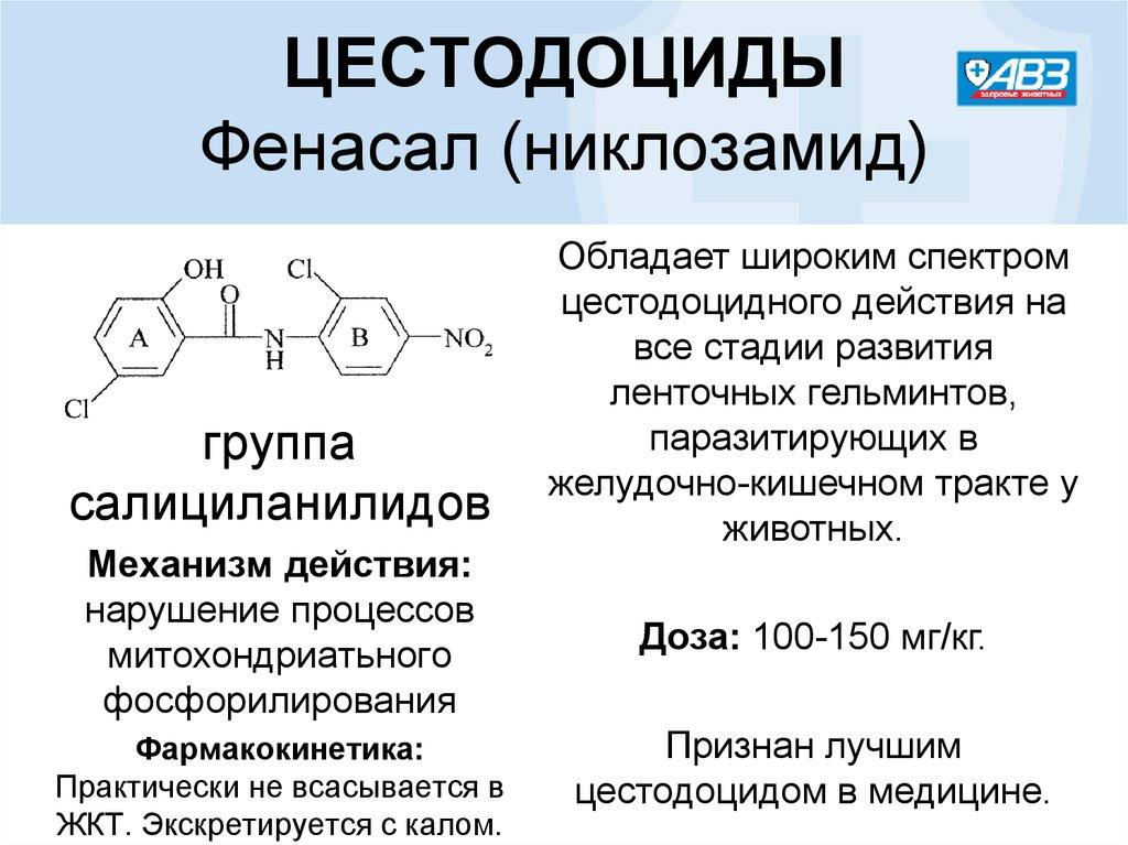 Препарат фенасал: инструкция по применению
