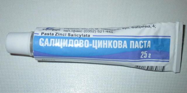 Салицилово-цинковая паста — описание и принцип действия