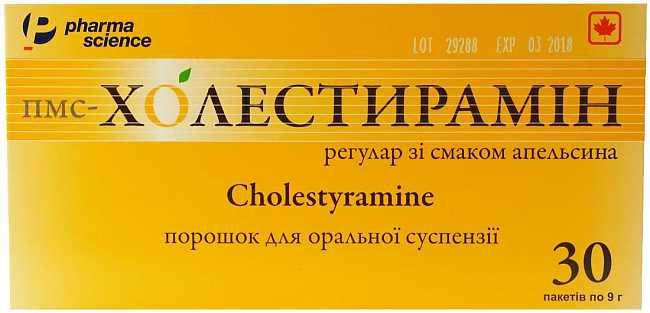 Холестирамин - инструкция по применению, 2 аналога