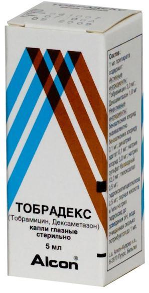 Глазные капли тобрадекс: инструкция по применению, обзор и отзывы