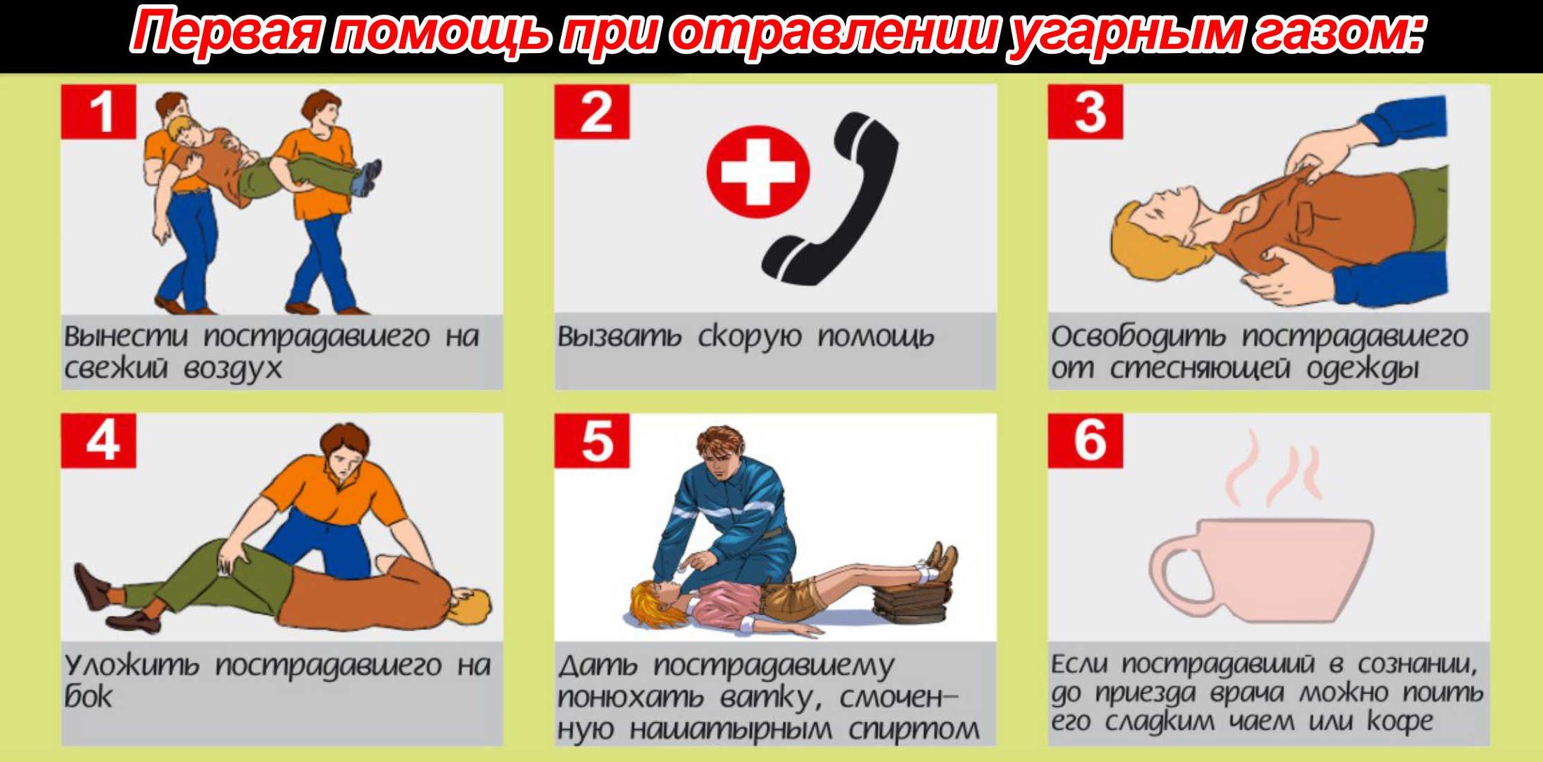 Отравление угарным газом – симптомы, первая помощь, лечение, последствия