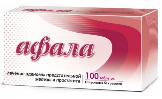 Афалаза от простатита: инструкция по применению