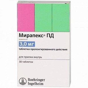 Инструкция по применению препарата мирапекс и отзывы о нем